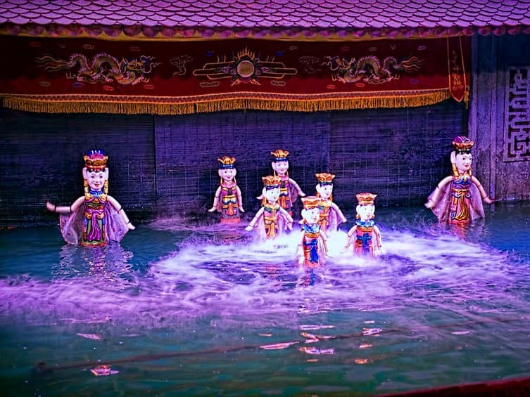 Vietnamese Water Puppets Performing