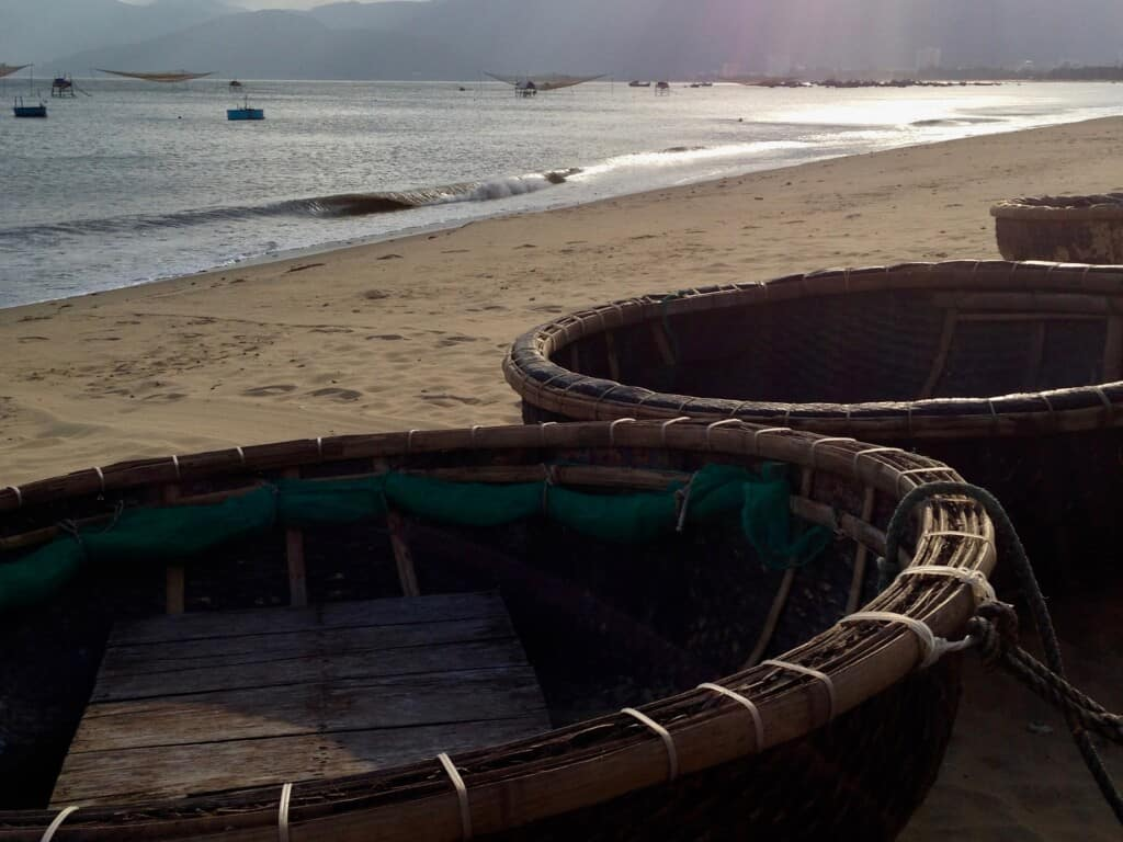 Basket Boats on the beach