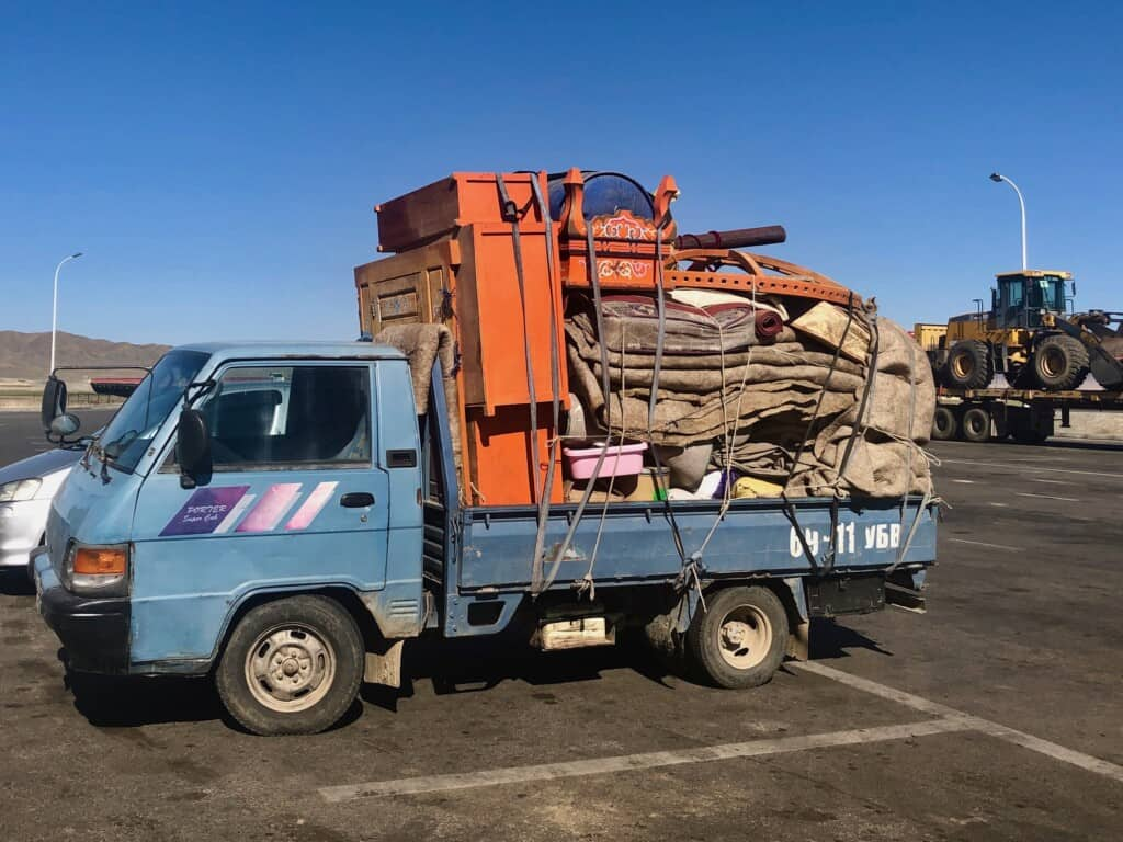 Moving of a Ger in Mongolia