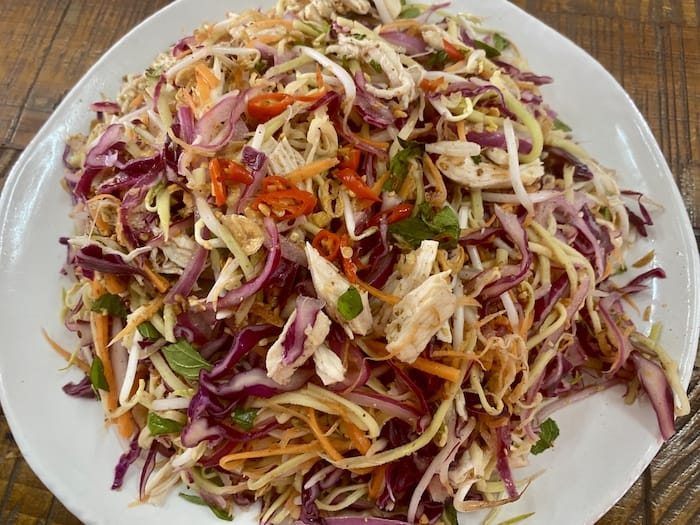Vietnamese Green Mango, Carrot and Red Cabbage Chicken Salad Recipe