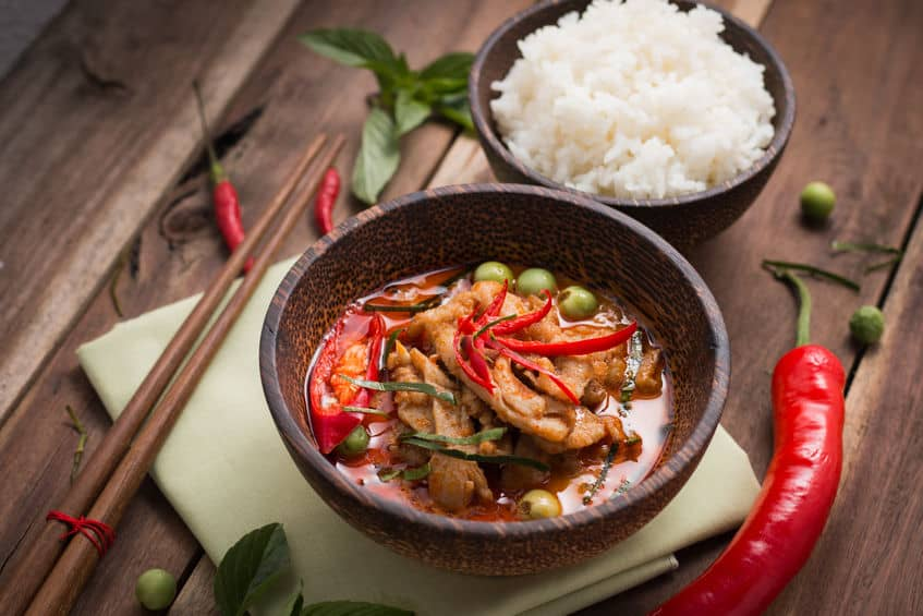 Red Thai, Chicken Curry and Rice