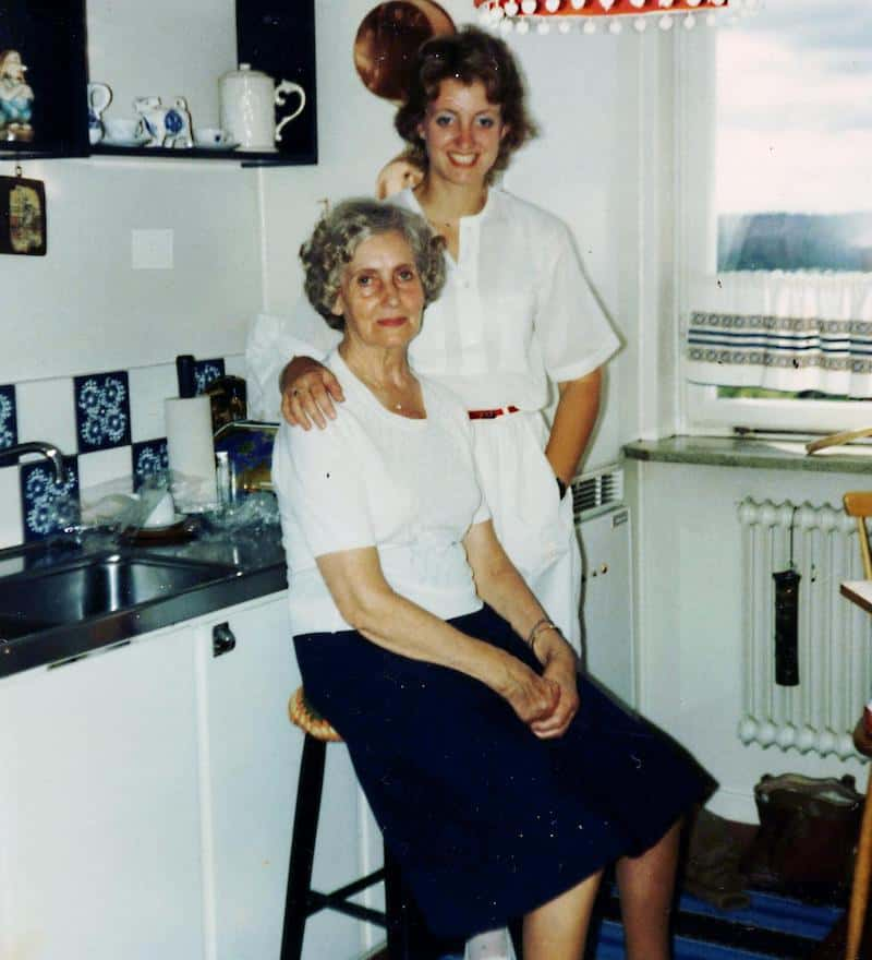 My Swedish Grandmother, Mormor, and I in her kitchen in Stockholm, Sweden.  This was the last time I saw her alive.