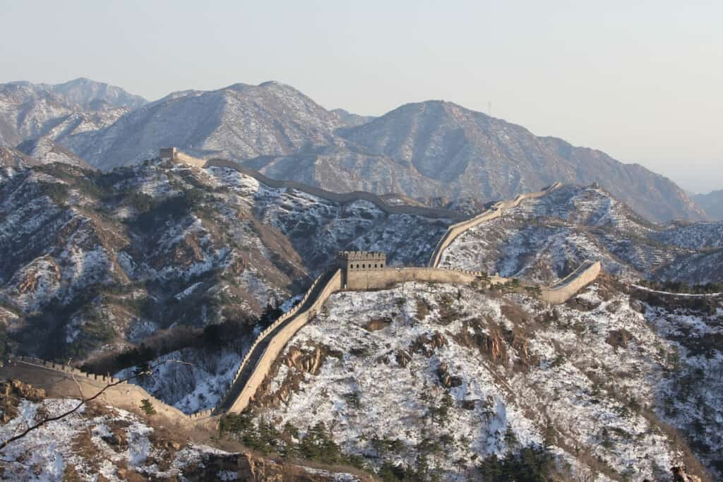 The Great Wall In The Snow