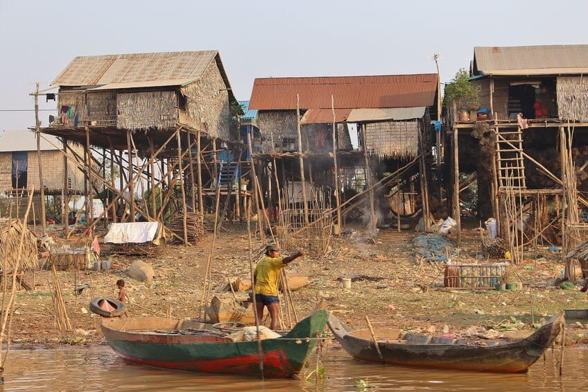Examples of Some Cambodian Houses on Stilts