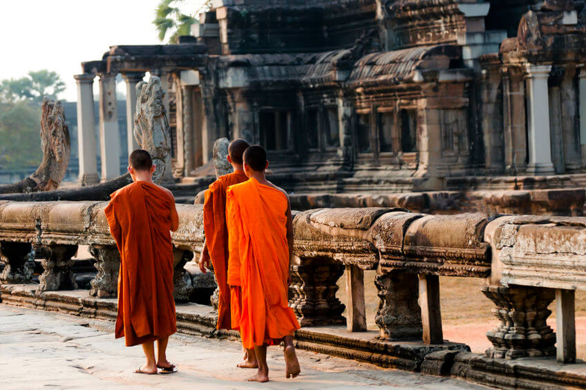 Buddhist Monks At Temples